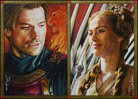 The Lannister Twins by DavidDeb