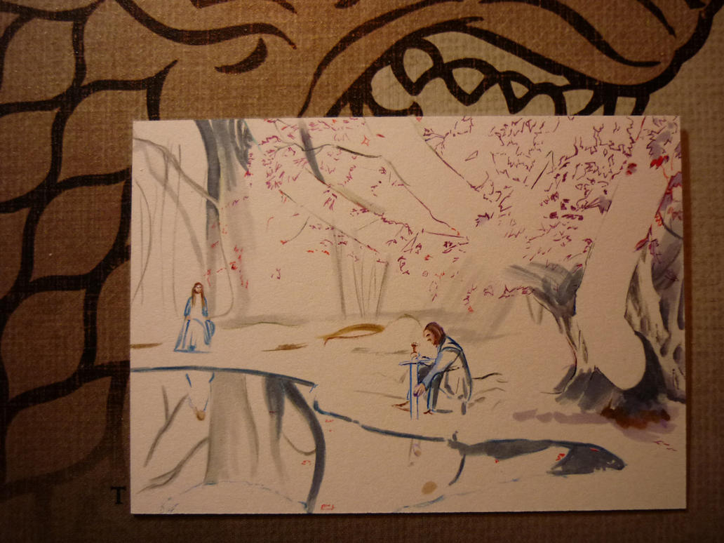 Godswood at Winterfell-wip by DavidDeb
