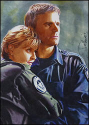 Jack O'Neill and Samantha Carter by DavidDeb