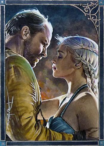 Dany and Jorah by DavidDeb