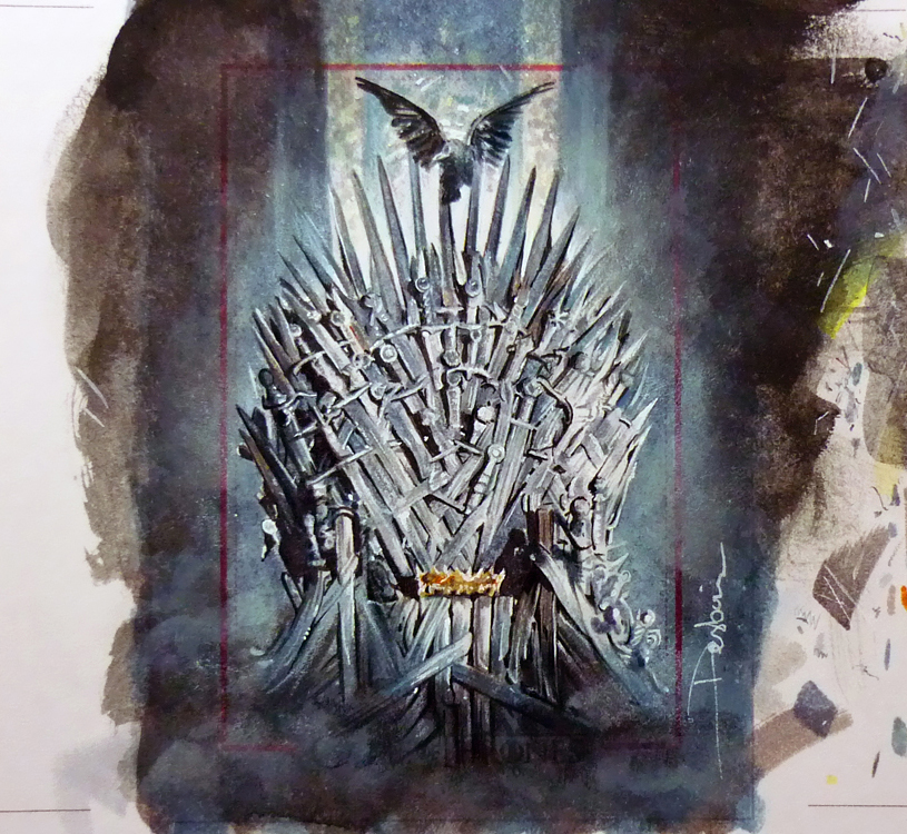 The iron throne by daviddeb on deviantart for Iron throne painting