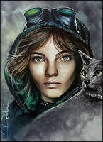 Cat by DavidDeb