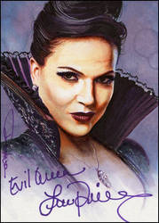 Evil Queen -autographed by DavidDeb