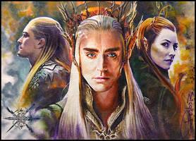 Elven Guards of Mirkwood by DavidDeb
