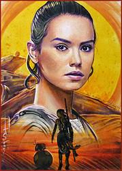 Rey and BB8 by DavidDeb