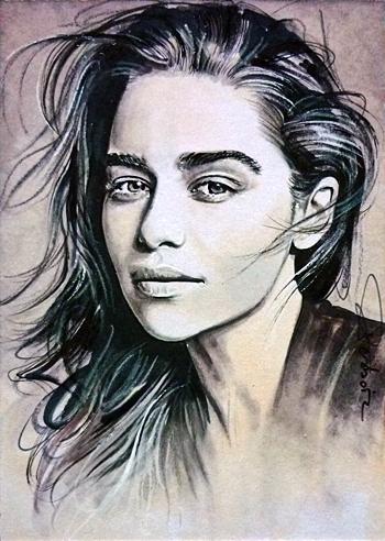 Emilia Clark by DavidDeb