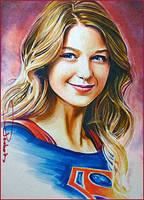 Portrait of Supergirl by DavidDeb