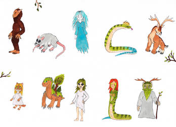 Slavic creatures by Spinosaurus-Fan