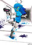 Monster Girl Challenge #17,18 - Robot, Alien by Spinosaurus-Fan
