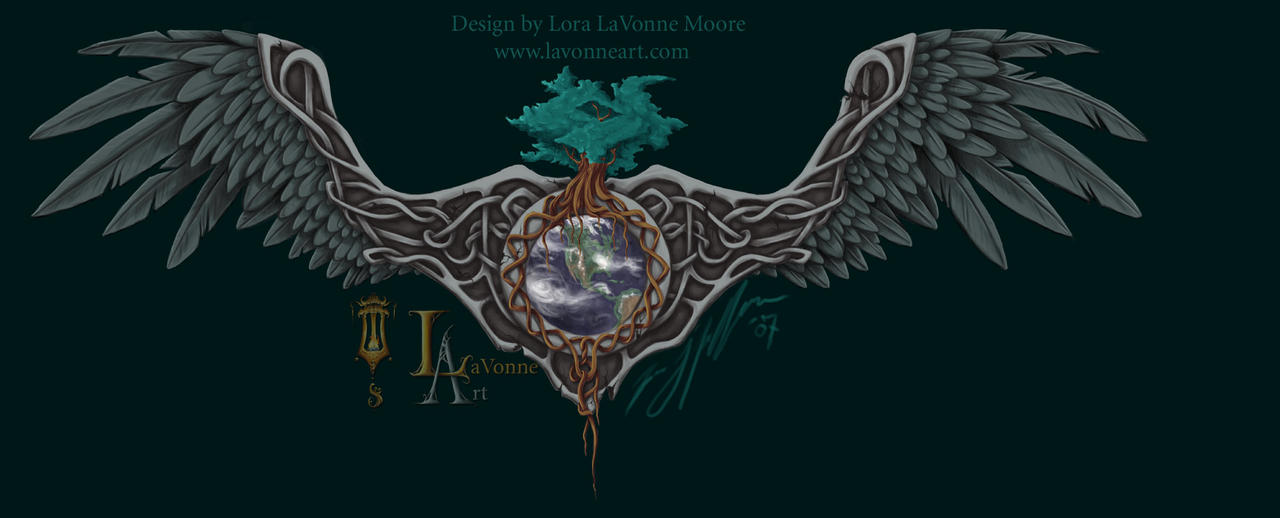 Norse world tree with wings by lavonne on DeviantArt