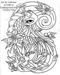 Girly koi cb and lotus linwork