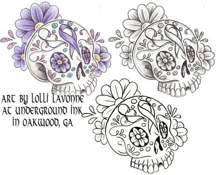 Cancer sugar skull