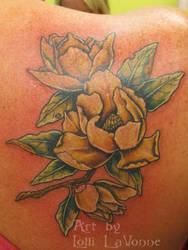 Custom Magnolia shoulder piece by lavonne