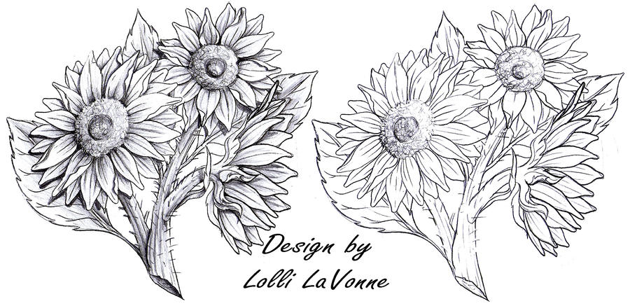 Sunflower Tattoo Outline Pictures to Pin on Pinterest ...