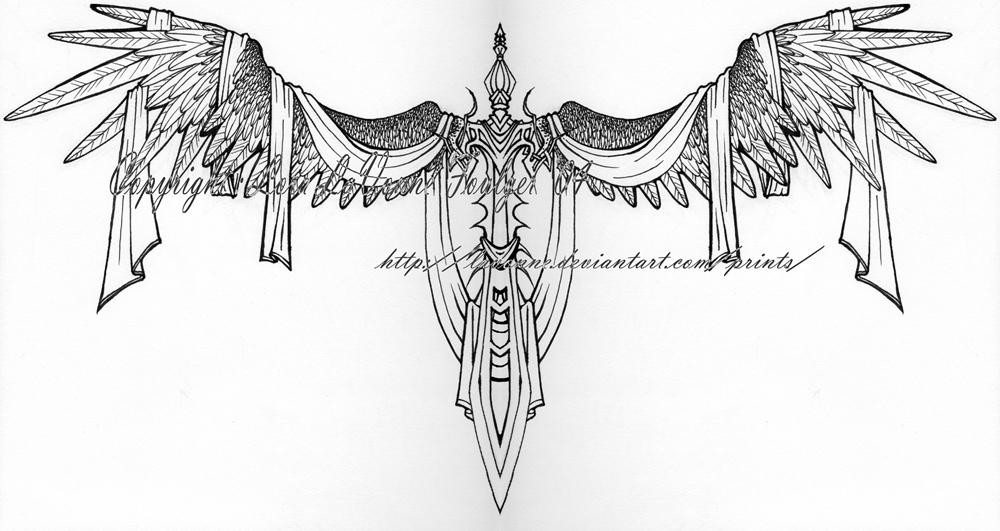 Sword of heaven tattoo design