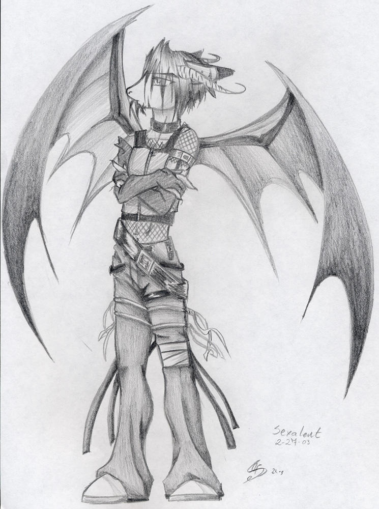 Anthro Dragon Boy Anthro Demon Boy by Lavonne