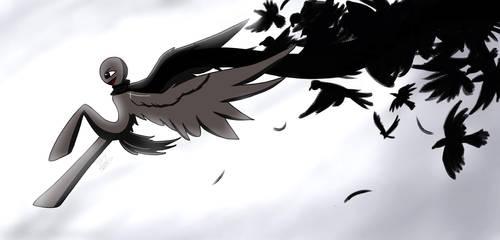 A Murder of Crows by Br0ken-Sky