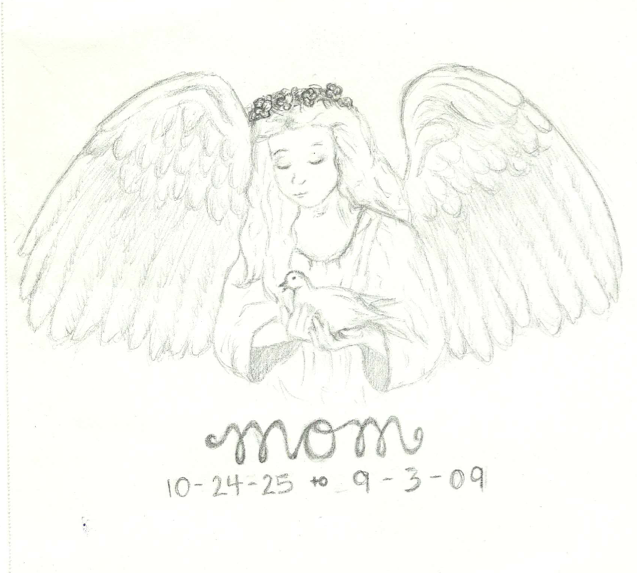 Angel 'Mom' Tattoo Design by thelinesthattied