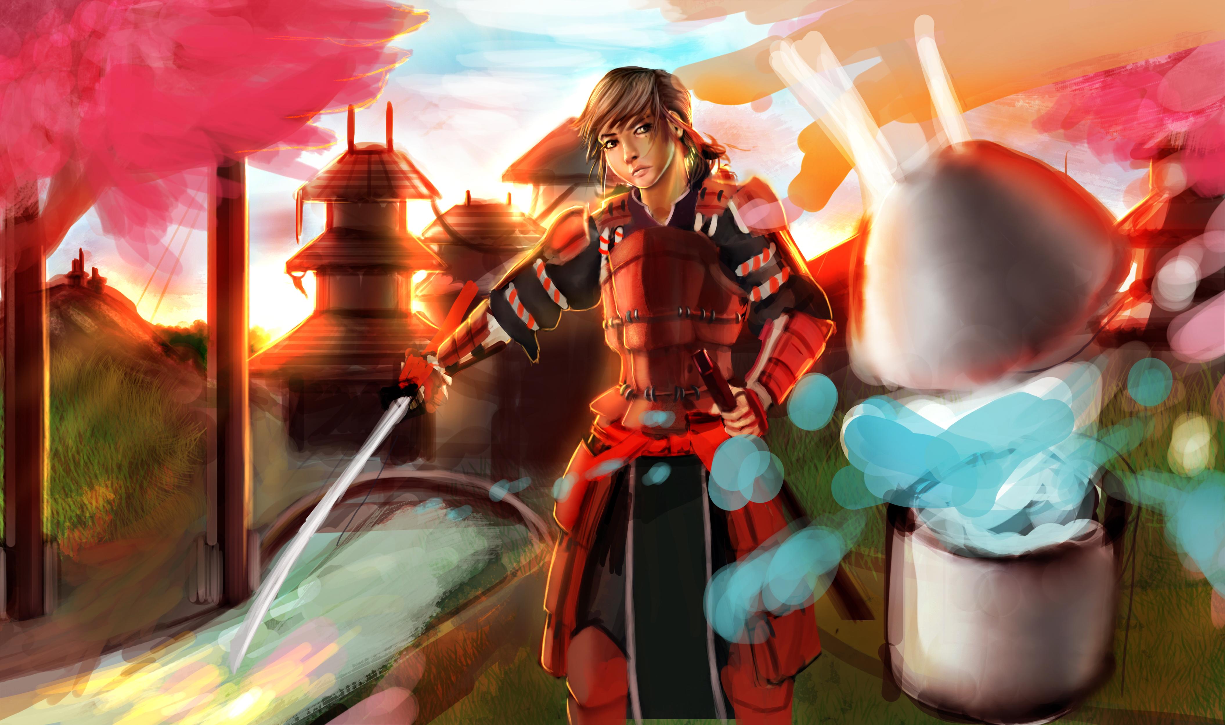 desafio dos desenhistas NEW VERSION - Página 2 Samurai_by_jp_vilela-d6hfxve