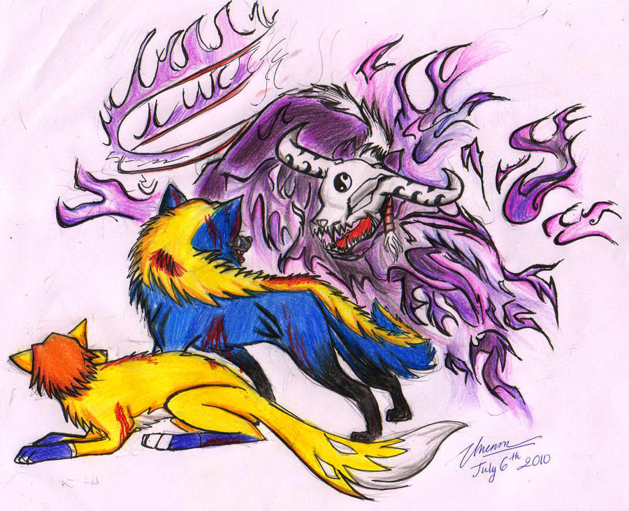 0mega vs Black Terror by darkicetheblackwolf