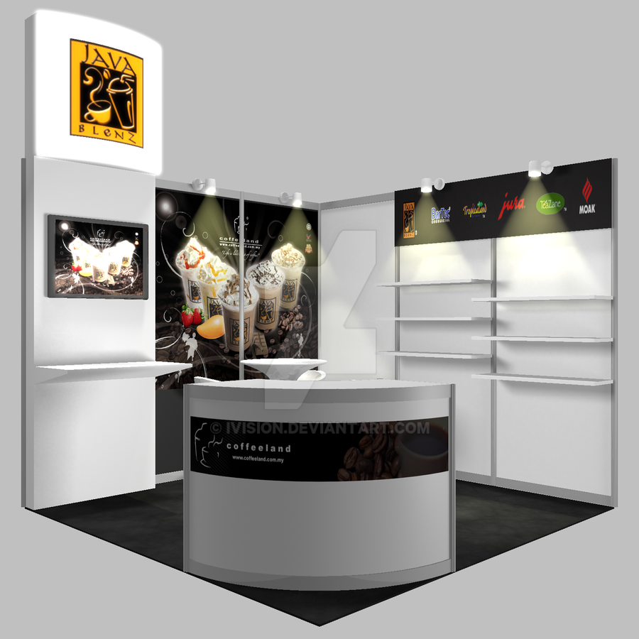 Exhibition Booth Design D : Exhibition booth design coffee by ivision on deviantart