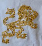 Gilded Heraldry Lion