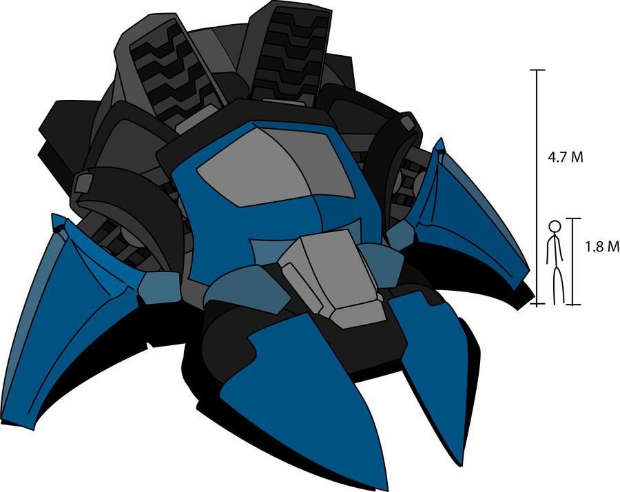 Serif Avatar battle hover tank by madcomm