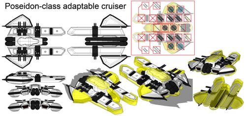 Poseidon class adaptable cruiser by madcomm