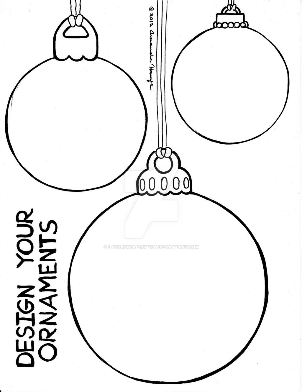 blank ornament coloring pages - photo#25