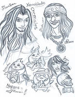 Xenoblade Chrioncles sketch 2 by LadyJuxtaposition