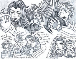 Xenoblade Chronicles sketch 7 by LadyJuxtaposition