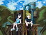 FFVII Scene Flashback: Cloud and Tifa as Kids