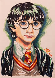 + Art Trade + Harry Potter Color Expression by LadyJuxtaposition