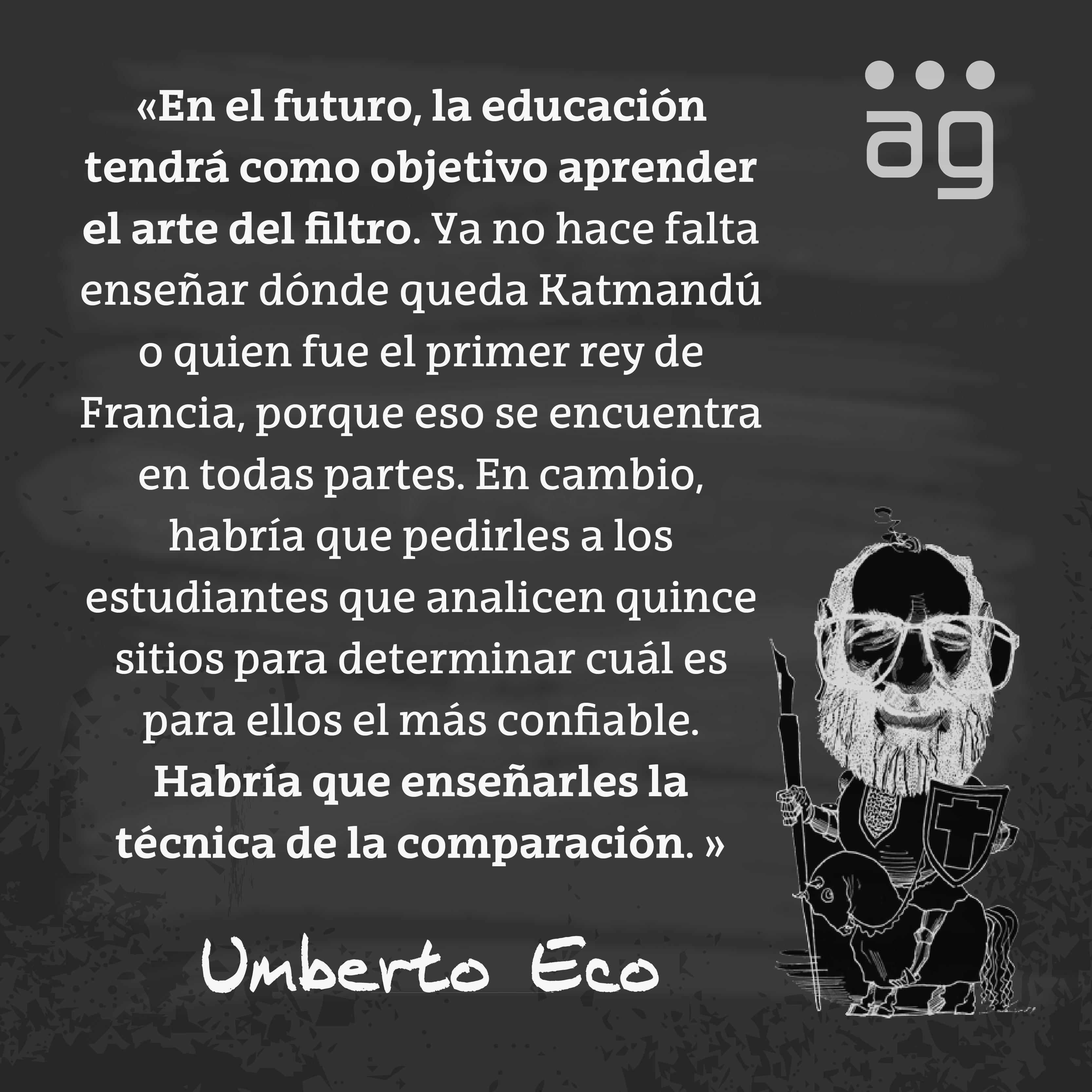 Umberto Eco sobre la educacion by alaznegonzalez