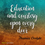 Education and courtesy open every door