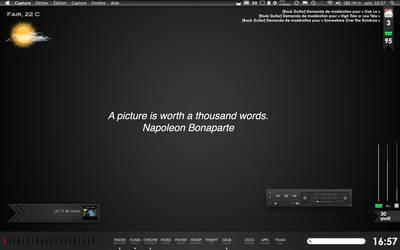 Black OS X Desktop
