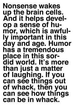 Nonsense and Humor