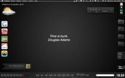 Black OS X Desktop - Dragthing