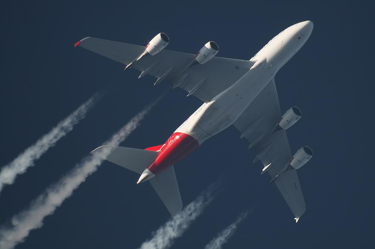 A388 Qantas - VH-OQI - QFA32 [LHR-SIN-SYD] #2