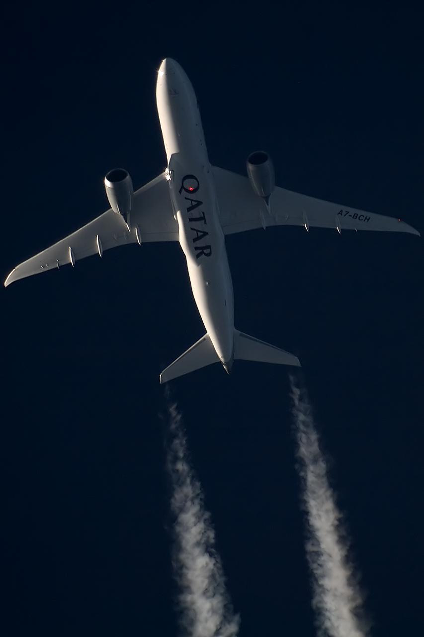 B788 Qatar - A7-BCH - QTR176 [OSL-DOH]