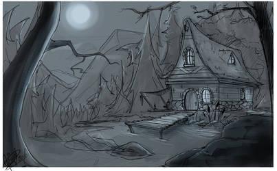 scene sketch by Shye6686