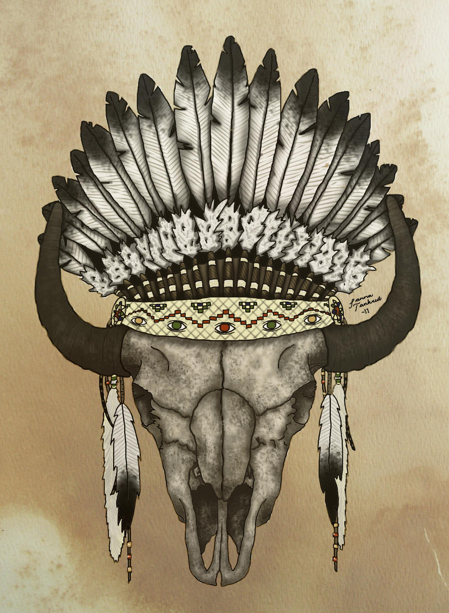 buffalo skull by Flygandetefat on DeviantArt