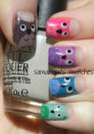 Adorable Owl Manicure