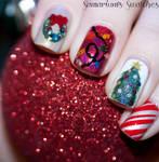 Christmasy Skittle Mani