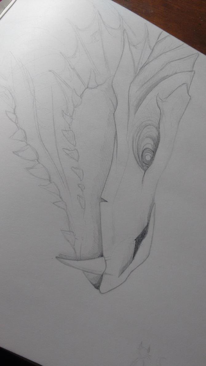 dragon sketch by Menfia