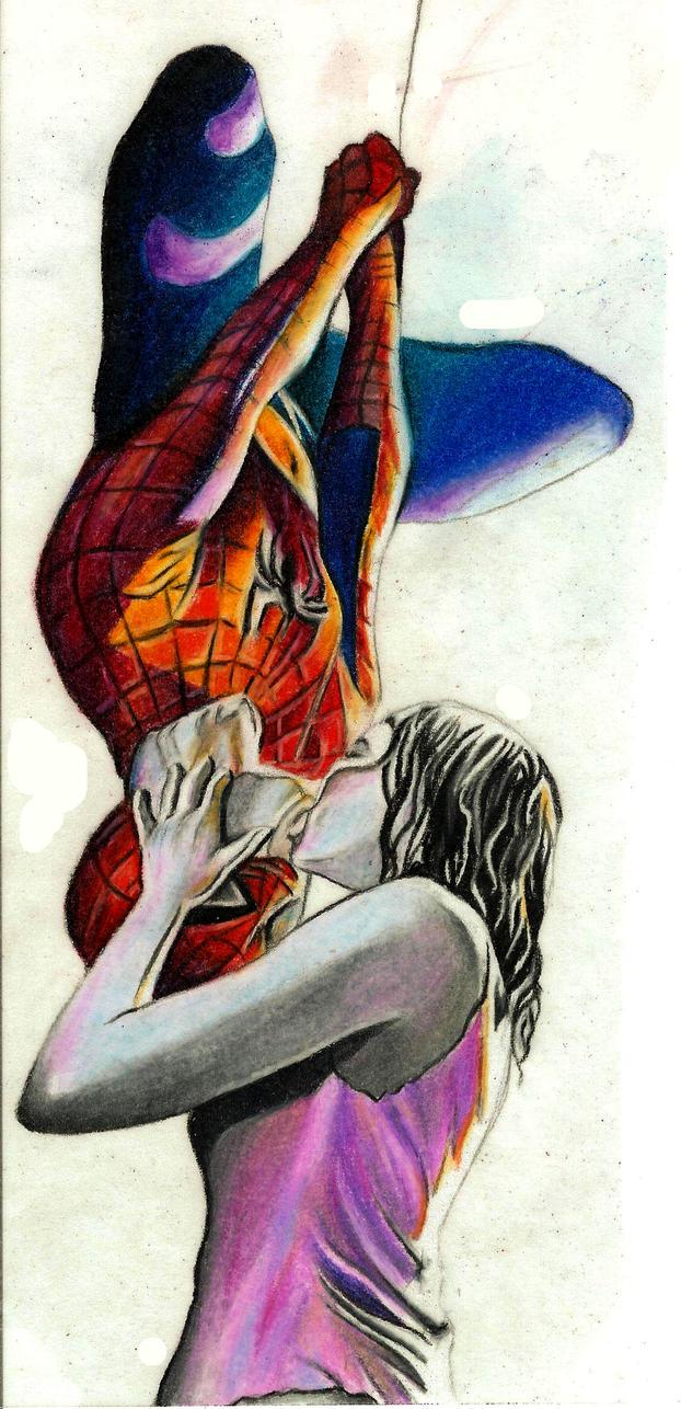 spiderman kiss video