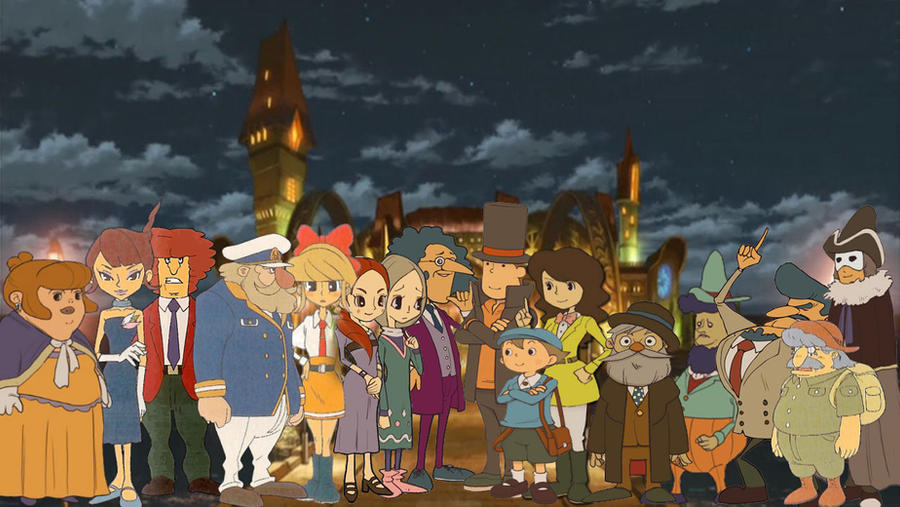 Professor Layton And The Eternal Diva Wallpaper By Thegeesfan On
