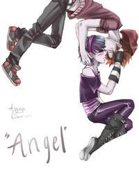 Anna Blue and Damien Dawn  'angel'