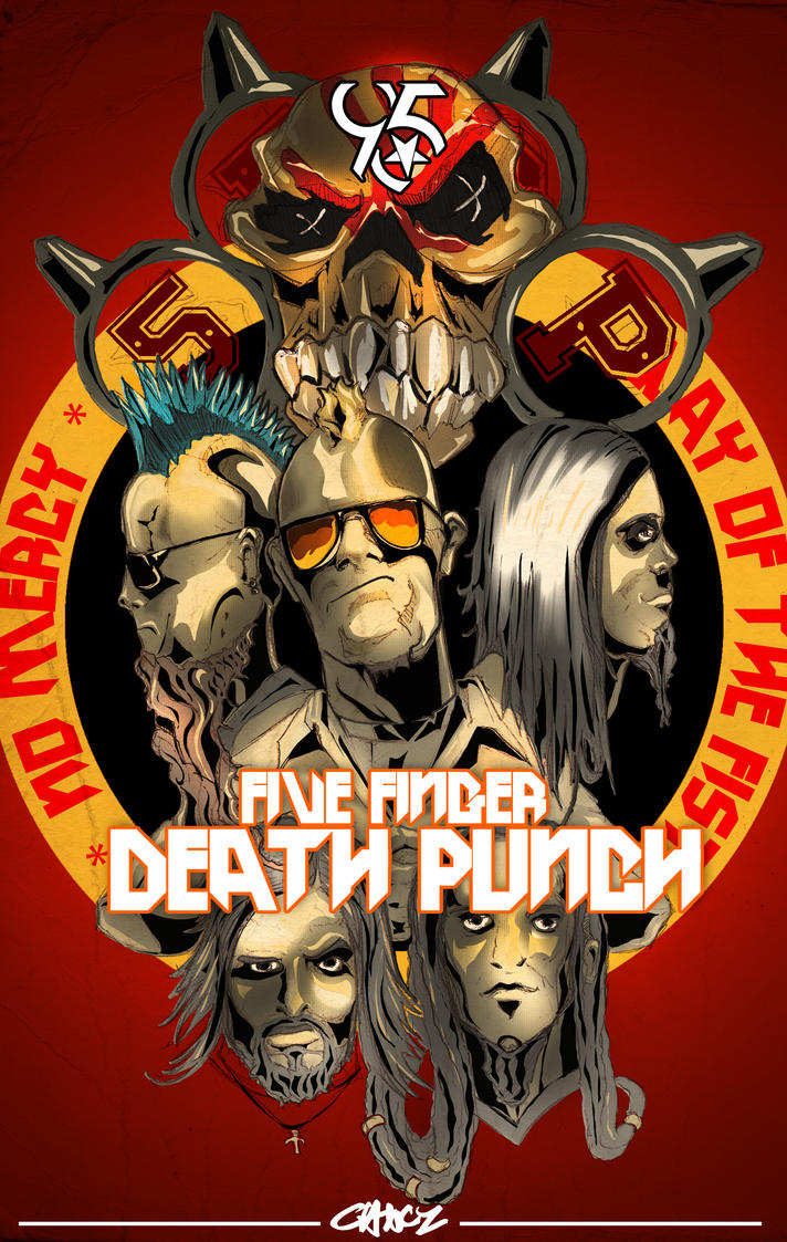 Five Finger Death Punch Render By C CLANCY
