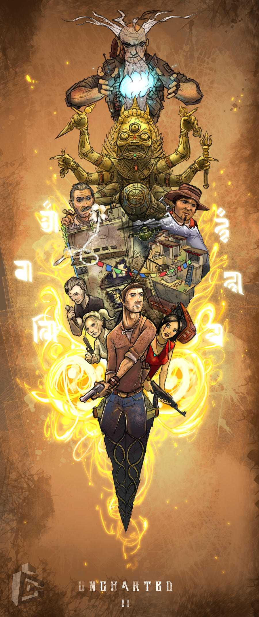 oO Uncharted II Oo by C-CLANCY